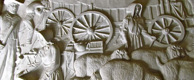 The Friese inside the Voortrekker monument is made up of may scenes from the history of South Africa